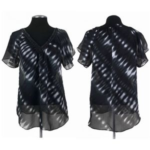 Express - Sheer Pullover Sequin Top